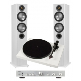 Project Debut Carbon + Rotel A10 + Monitor Audio Bronze 5