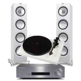 Pro-Ject Debut Carbon 2M-Red + Phono Box + Cambridge CXA-60 + KEF Q950
