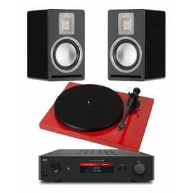 Pro-Ject Debut Carbon 2M-Red + Nad C368 + Audiovector QR1